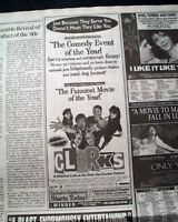 Best CLERKS Cult Classic Film Movie Opening Day AD & Review 1994 L.A. Newspaper