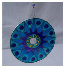 Stellar celestial round blue glass sun catcher