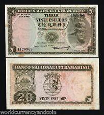 TIMOR 20 Escudos P26 1967 *BUNDLE* PORTUGAL UNC TONE CURRENCY MONEY BILL 100 PCS