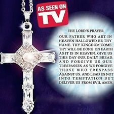 As Seen On TV Total Seven 7 Cross The Lord's Prayer Sterling Silver Cross FAITH