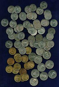 MEXICO ESTADOS UNIDOS  1964-1984  20 & 25 CENTAVOS COINS, GROUP LOT OF (71)