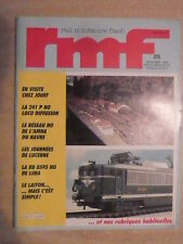 RMF n° 275/ déc 1986 Réseau HO de l'AMHA du HAVRE. LUCERNE. LOCO 241 P SNCF