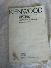 Kenwood UD-405 Instruction Manual