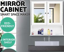 2-in-1 Design Mirror Cabinet Storage Tallboy Toilet Cupboard Bathroom Furniture