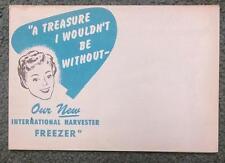 1947 International Harvester IH Freezer Advertisement Poster Foldout Advertising