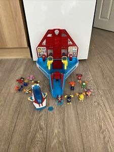 Paw Patrol Super Paws Mighty Jet Aeroplane Command Centre Pups & Ryder Bundle