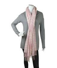Burberry Black Label Pink Nova Check Wool Cashmere Scarf