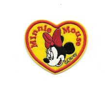 Walt Disney MINNIE MOUSE Heart - Irion on Patches/Sew On/Applique/Embroidered