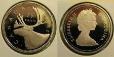 1987 Canada Frosted 25 Cent Caribou Quarter Proof