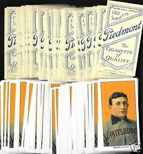Lot of 100 REPRINT 1909 HONUS WAGNER T206 Cigarette PIEDMONT Back