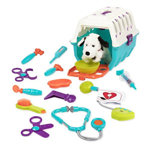 Battat - Dalmatian Vet Kit - Interactive Vet Clinic and Cage Pretend Play for 15