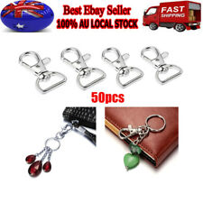 50PCS Snap Hook Clip Keychain Key Ring Buckle Dog Leads Carabiner Nickel Plated