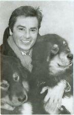 ALAIN DELON WITH DOGS, FINE RUSSIAN REAL PHOTO POSTCARD, 1990