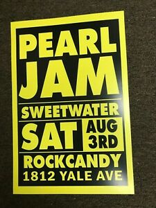 Pearl Jam 1991 Sweetwater Seattle Telephone Pole Cardstock Concert Poster 12x18