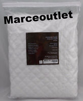Hudson Park Collection Double Diamond FULL QUEEN Quilted Coverlet White