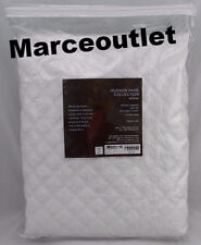 Hudson Park Collection Double Diamond KING Quilted Coverlet White