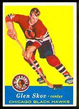 1957-58 TOPPS HOCKEY #30 GLEN SKOV NM CHICAGO BLACK HAWKS CARD