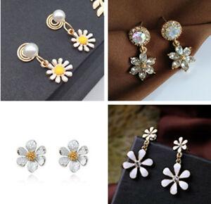 Multiple designs, pretty daisy earrings, 60s retro