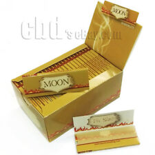 "Moon Unbleached Cigarette Tobacco Rolling Papers 1.25"" 77*45mm 2000 leaves Sale"