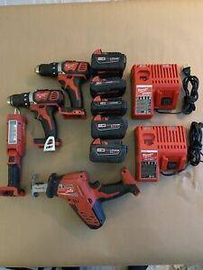 milwaukee hand tool set,battery's, charges, saw,light, drill. Great condition!!!