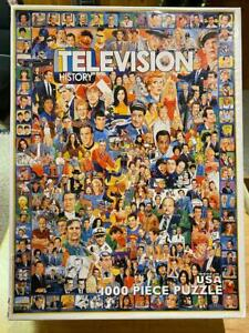 """White Mountain """"Television History"""" 1000 Piece Jigsaw Puzzle 2009 Complete"""
