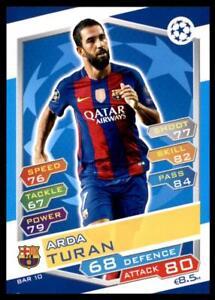 Match Attax Champions League 16/17 Arda Turan Barcelona No. FCB10