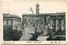 1921 Roma Campidoglio piazza state facciata Hotel Michel FP B/N VG