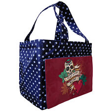 Personalised HEART Lunch Bag Insulated Tote TATTOO SKULL Spotty SH207