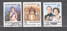 BANGLADESH nº 94/96º Isabel II. Serie Completa.
