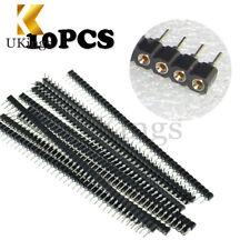10PCS 40Pin Single Row Round Header Female IC Socket Breakable Strip Tin PCB