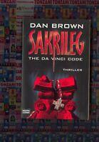 SAKRILEG, DAN BROWN, THE DA VINCI CODE, LIBRO IN LINGUA TEDESCA, THRILLER