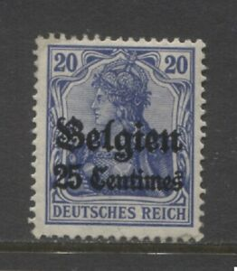 1914  BELGIUM WW 1 German occupation 25 centime Germania with op mint*