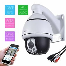 4X Zoom HD 1080P 2.0MP  PTZ IP Speed Dome security Camera IR two way Audio
