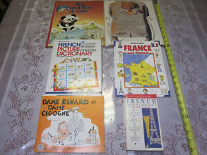 Lot (6) Books in French: (Children's, Dictionary, Travel, Stories)