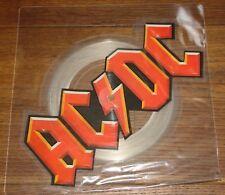 "AC/DC GUNS HIRE UK SHAPED 7"" PICTURE DISC 1983 W/ ORIGINAL STICKERED PVC SLEEVE"