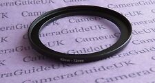 62mm to 72mm Male-Female Stepping Step Up Filter Ring Adapter 62mm-72mm UK