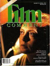 Film Comment March-April 1993 Jack Lemmon Susan Sarandon Harold Lloyd