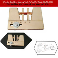 Auxiliary Wooden Dead Eyes Mooring Tool Fix With Screw for Wood Ship Model Kits