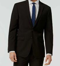 $665 Calvin Klein Mens Extreme Slim Fit Wool Sport Coat Black Jacket Blazer 46 L
