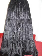 black velvet gypsy custom made skirt 10 12 14 16 18 20 22 24 26 28 30 32 34 36