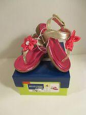 NWB Baby Toddler GENUINE KIDS OSHKOSH SZ 4 Pink Gold ALLIE Floral Gem Sandals