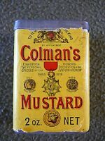 Vintage Tin Colman's 1878 Mustard, Nice Piece for The Age, Bulls Head, VERY RARE