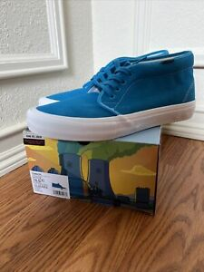 Vans Mens Blue Chukka Pro The Simpsons VN0A4UWT0RB Skateboard Shoes Size US 10.5
