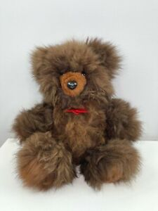 "13 "" Natural Real Fur Artist Teddy Bear Fuzzy Brown Bears OOAK WOW!"