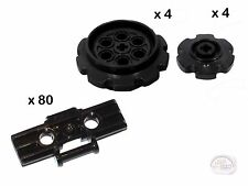 LEGO Technic - 80 Treads + 8 Sprockets - Black - New - (Track,Gear,EV3,NXT)