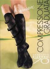 ELLY CAREZZA 70 DENIERS DIAGONAL KNEE-HIGHS medium compression on leg RTH