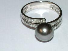 Tahiti Perle Brillantring 14 K / 585 Gold, Gr. 66  BCI Sogni d'oro