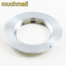 M42 Screw Mount lens To Canon EOS EF Adapter Silver For 550D 60D 5D II III 650D