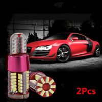 T10 Red LED 3rd Third Brake Stop Light Interior Dome Map Bulbs 3014-57SMD New