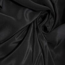 1.5 Yards 12mm Pure Silk Crepe Silk De Chine Cloth Material Lightweight Black